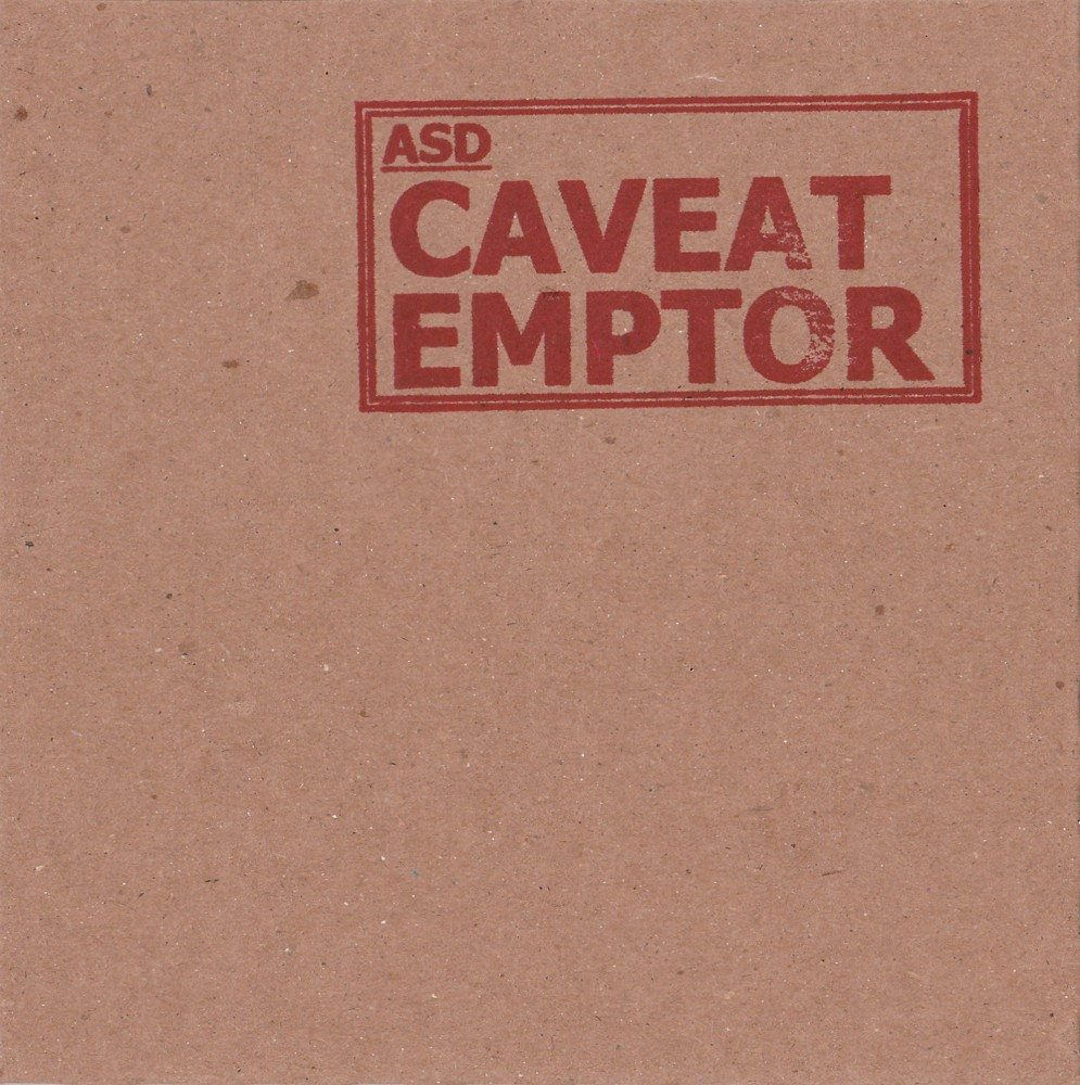 ASD - Caveat Emptor album cover copy